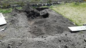 芝づくり 土壌 途中経過